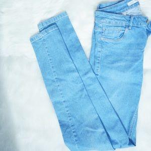 Light Blue Washed Skinny Jeans